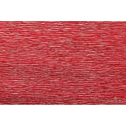 CARTA CRESPA 180 g METAL/5rt ROSSO BRILLANTE
