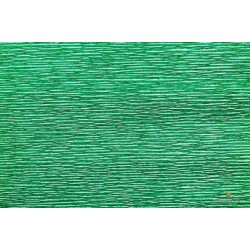 CARTA CRESPA 180 g METAL/5rt VERDE BRILLANTE