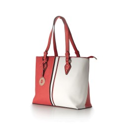 BORSA SHOPPER ELLE CORAL IN ECOPELLE COLORATA