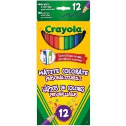 Crayola 12 matite personalizzateCRAYOLA 12 MATITE PERSONALIZZATE