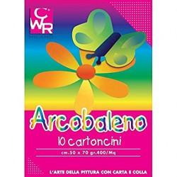 Cartoncino Arcobaleno 50x70 10fg
