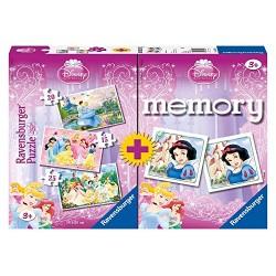 Puzzle Memory Ravensburger 3+1 Principesse Disney