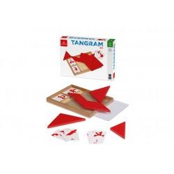 DAL NEGRO Tangram legno rosso + carte