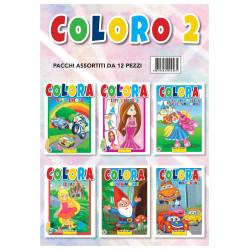 Hedison 12 Libri da Colorare assortimento Colora 2