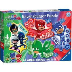 Puzzle Ravensburger 4 in 1 PJ Masks