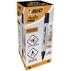 Pennarello BIC Marking Pro punta tonda nero cf12pz
