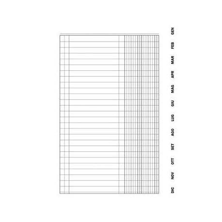 D1316.72 Registro Scadenzario 10 pag/mese con spirale A4