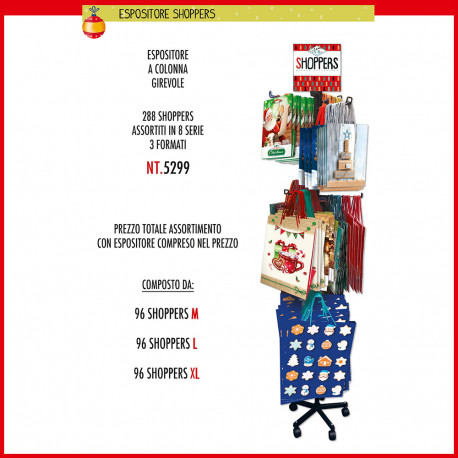 Buste regalo con manico Cromo Natale EXPO shoppers