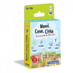 Clementoni Carte da gioco - Nomi Cose Città