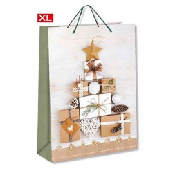 Buste regalo con manico Cromo Natale 44x32x10 cm cf da 12 pz