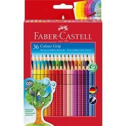 Pastelli Acquerellabili Faber da 36 Triangolari Colour Grip  /3pz