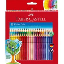 Pastelli Acquerellabili Faber da 48 Triangolari Colour Grip