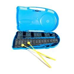 Metallofono Falstaff 25 note con astuccio in plastica azzurro
