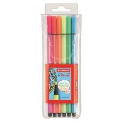 Evidenziatore Stabilo 68 Neon blister 6 colori